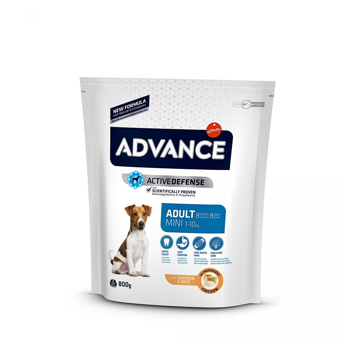 Advance Mini Adult Chicken & Rice 800gr