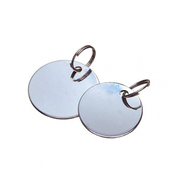 Placa ID Metal Redonda 2.5cm-0