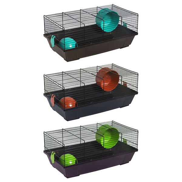 Gaiola Hamster Retangular Equipada Negra-0