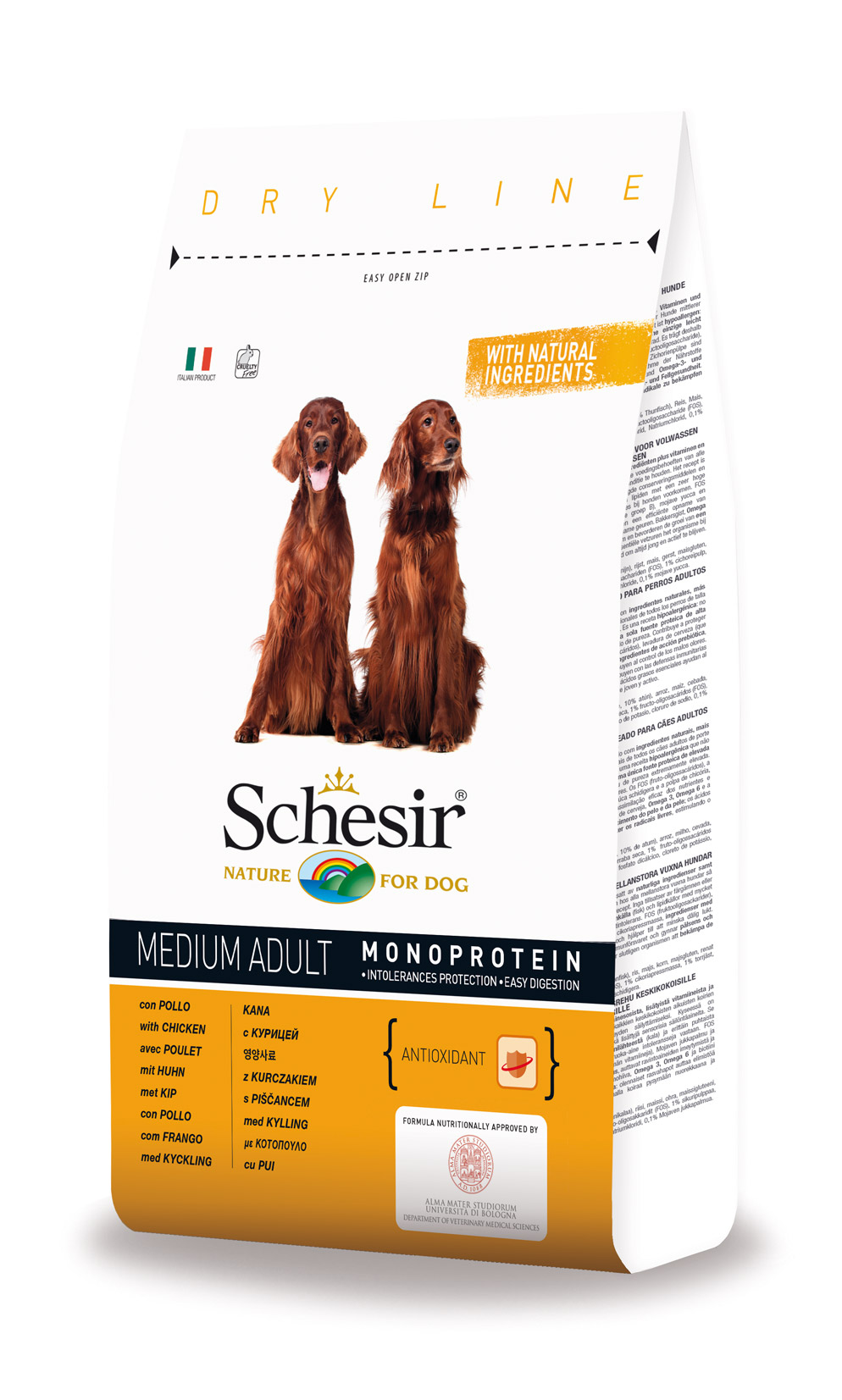 Schesir Medium Adulto Frango 3kg-0