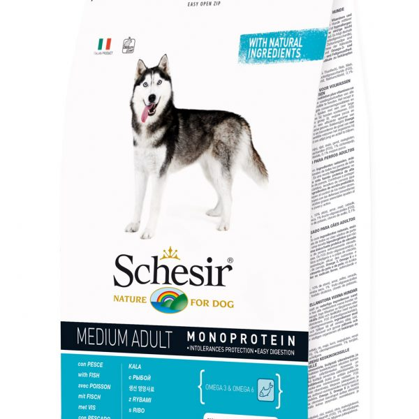 Schesir Medium Adulto Peixe 12kg-0