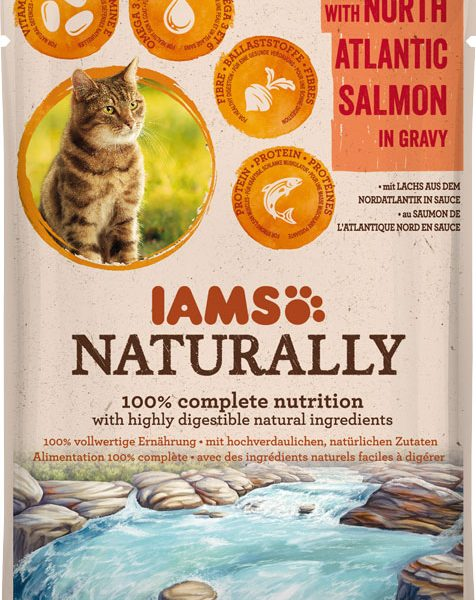IAMS Naturally Adult Salmon 85gr-0
