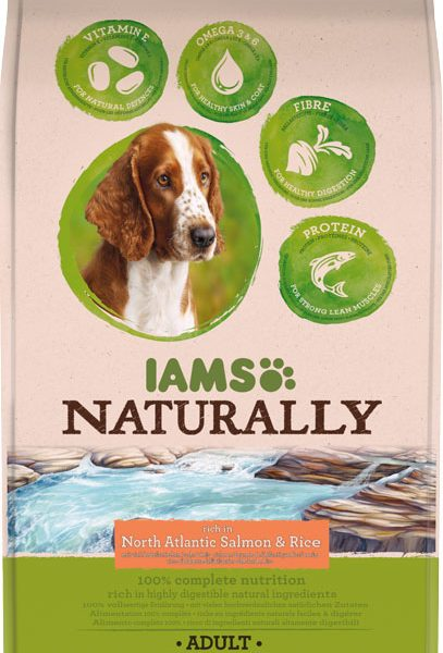 IAMS Naturally Adult Salmon 2.7kg-0