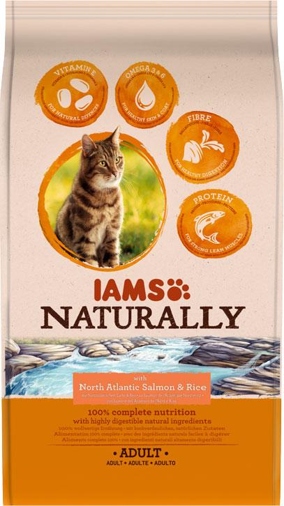 IAMS Naturally Adult Salmon 2.7kg-0