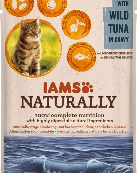 IAMS Naturally Adult Tuna 85gr-0