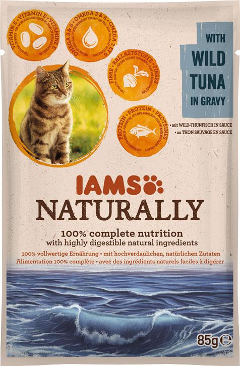 IAMS Naturally Adult Tuna 85gr-0